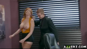 Busty milf, Lauren Phillips is playing with her tits while getting filled up with a hard dick
