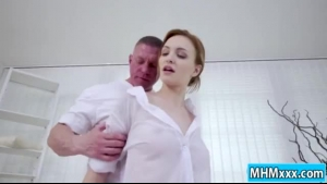 Gorgeous blonde gets her holes pounded by her man