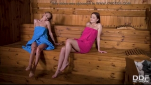 Wives pissed in the sauna