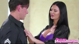 Jasmine Jae is a cum loving brunette milf with big tits and a dick every bit as big
