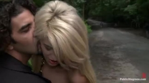 SexyMilfSweet Tracey fucking in the forest