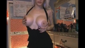 Insatiable, blonde chick knows how to make a oiled hunk explode from pleasure, every time