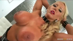 Sexy blonde in lingerie humiliation