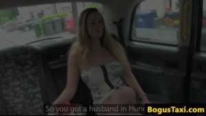Tiny Hungarian maid driving cock in the cab